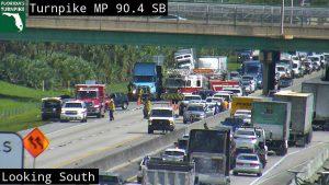 Crash shuts down Florida Turnpike North near Hypoluxo Road