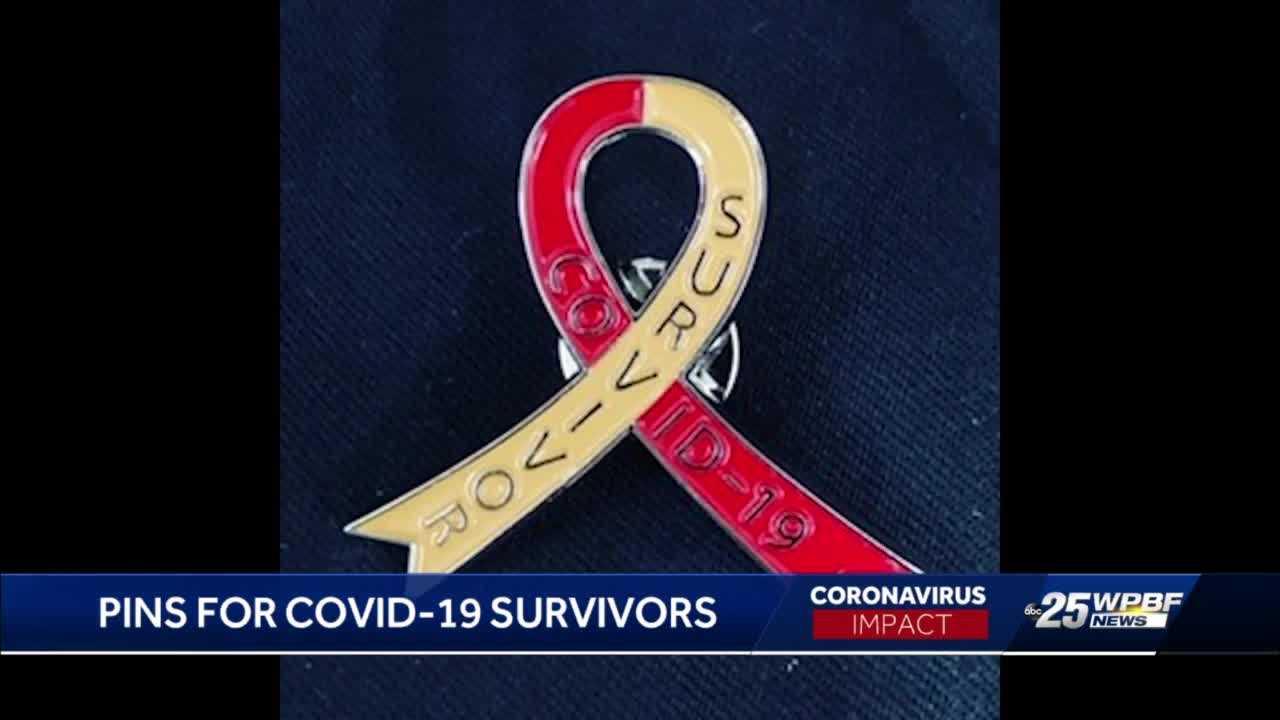 Woman Creates Lapel Pins for COVID-19 Survivors