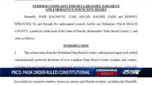 Palm Beach County judge rules that mask mandate is constitutional