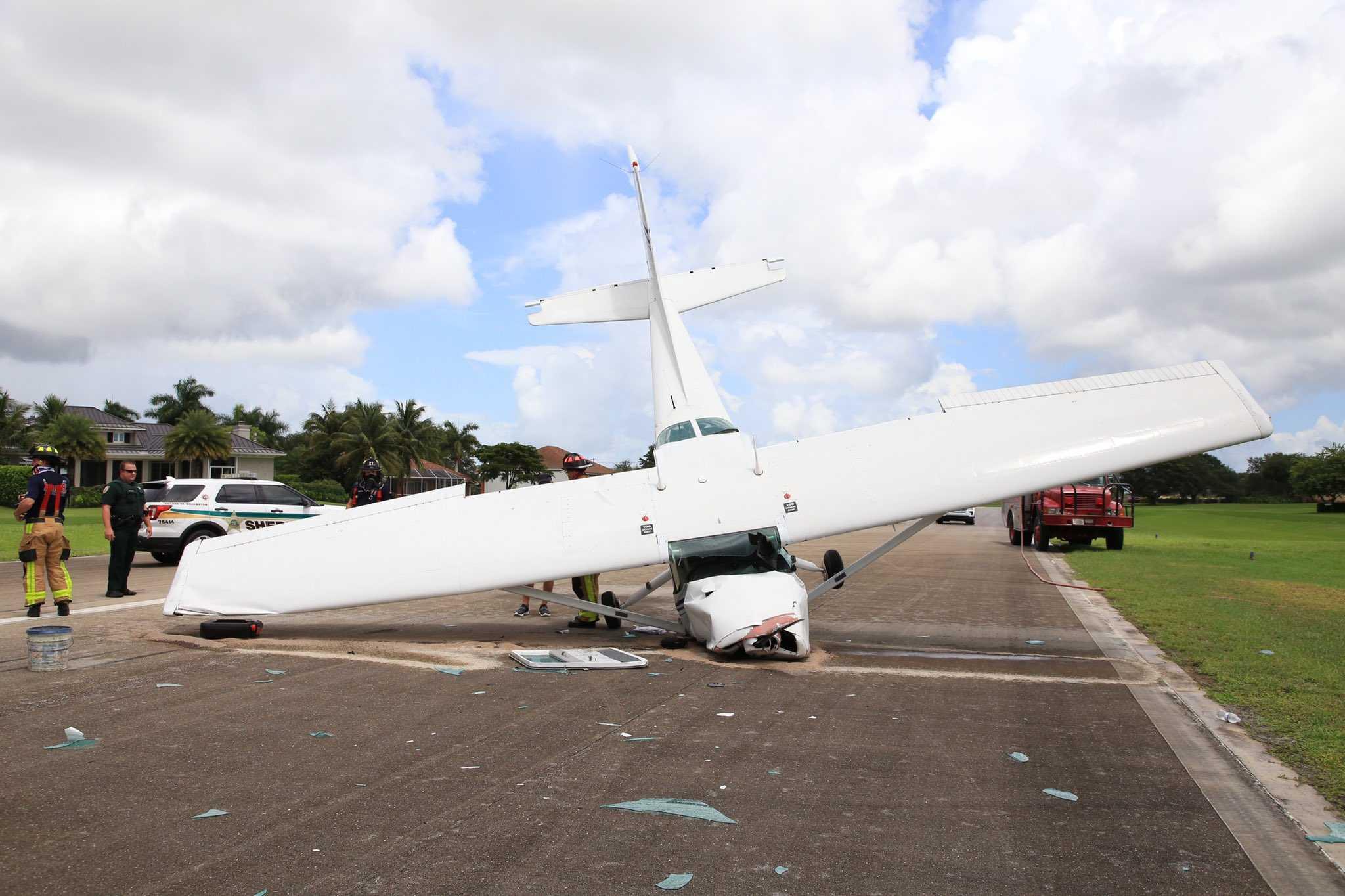 Sheriff's office identifies woman injured in small plane crash in Wellington Aero Club
