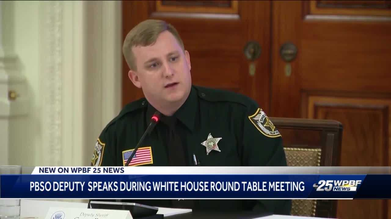 Palm Beach County Deputy recognized at President Trump's roundtable