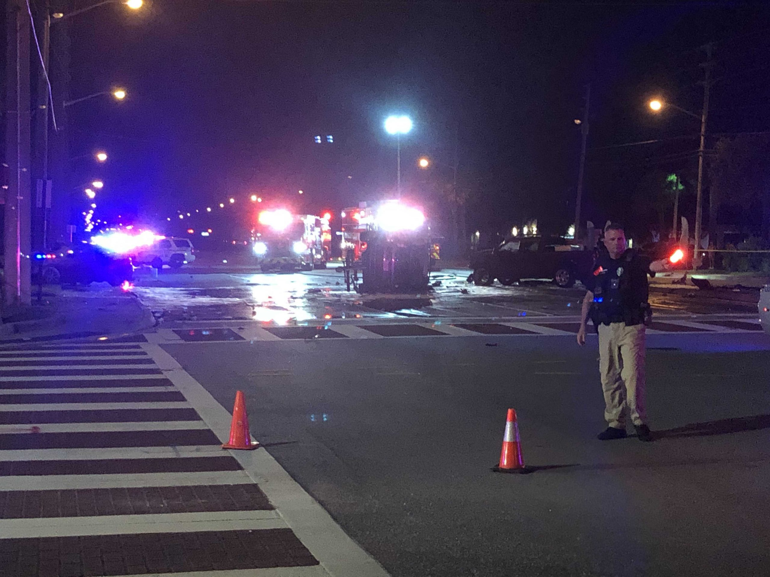 Eight injured after major accident in Jupiter