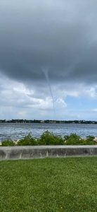 Small waterspout forms near West Palm Beach