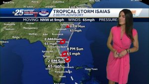 Tropical Storm Isaias 2 p.m. Advisory: South of Jupiter Inlet no longer under T.S. Warning