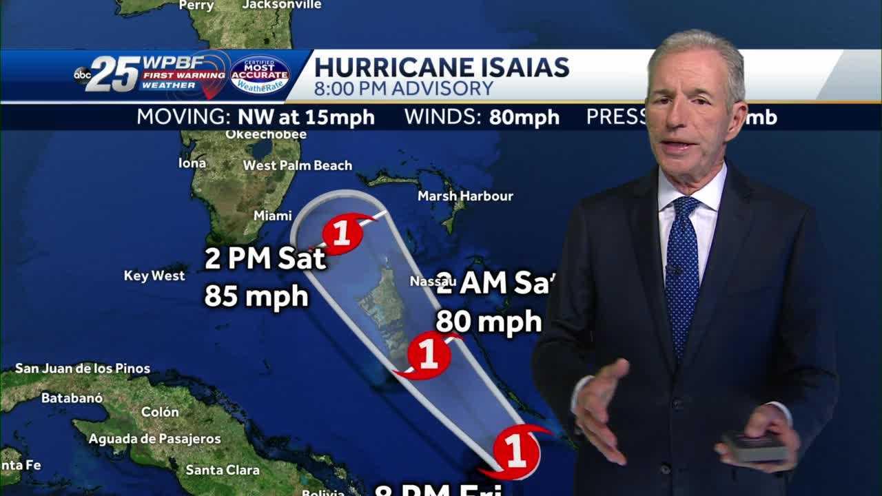 Hurricane Isaias 8 p.m. Advisory: Hurricane Warning for Palm Beach Co.