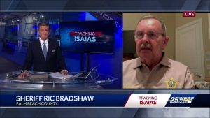 """Stay Home"": Sheriff Ric Bradshaw speaks about Tropical Storm Isaias"