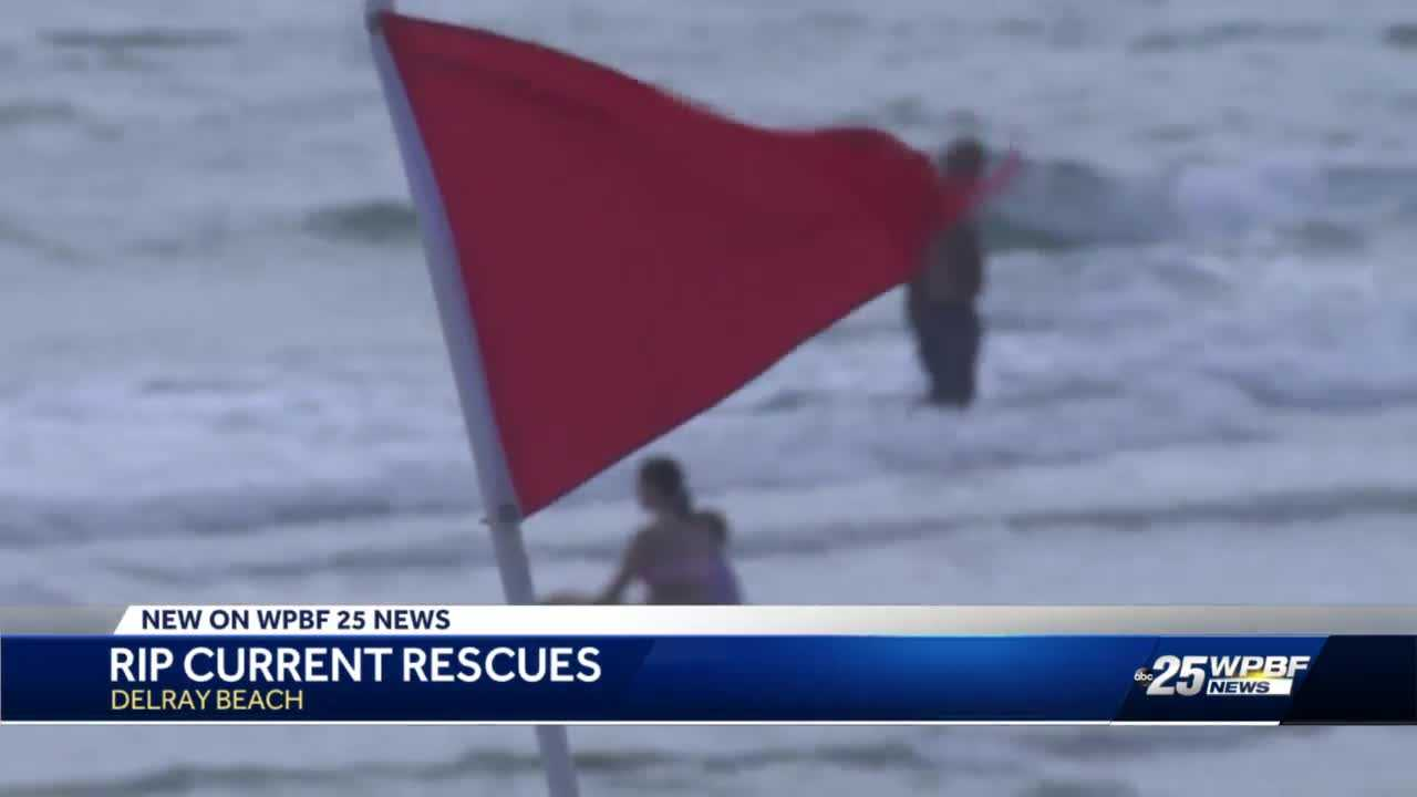 Rip current concerns in Delray Beach