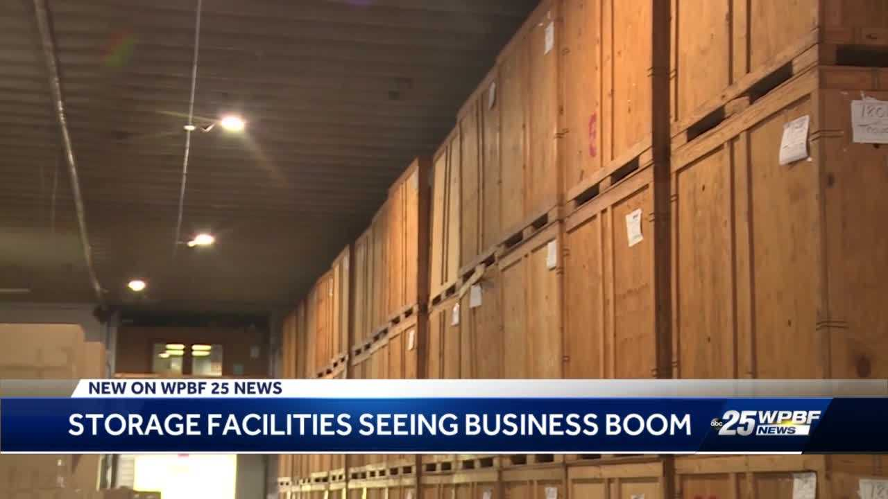 West Palm Beach storage facility at max capacity as northerners move to south Florida