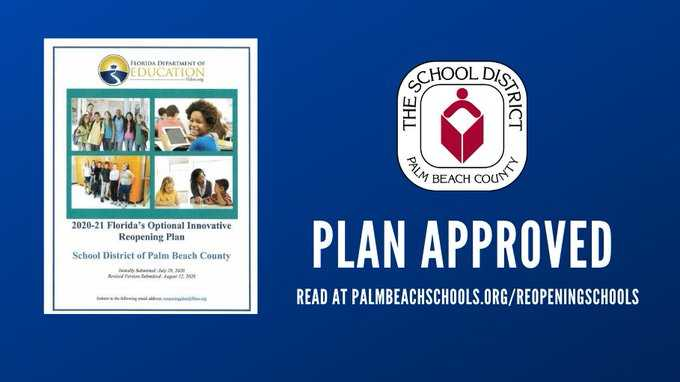 State approves Palm Beach County School District's reopening plan