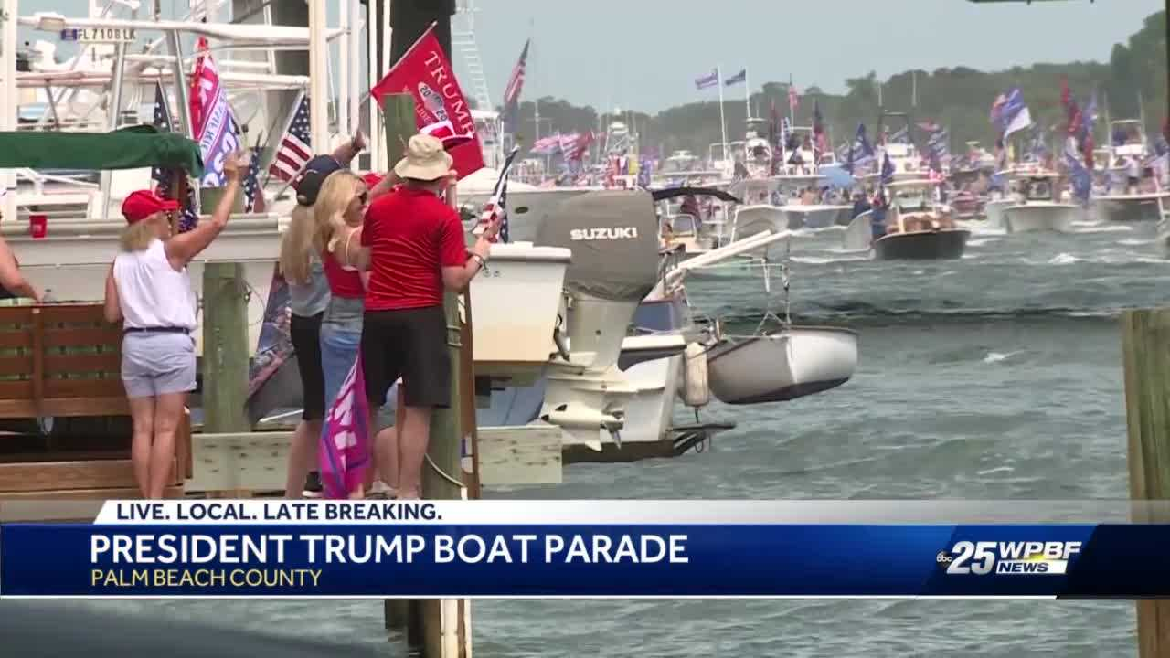Thousands of President Trump supporters participate in boat parade