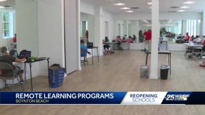 Employees get help with children and remote learning