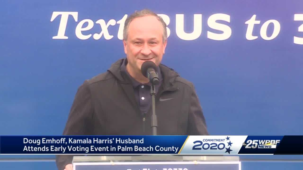 Doug Emhoff attends early voting event in Palm Beach County