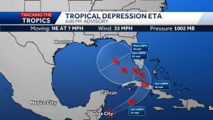 Palm Beach County officials provide update on Tropical Depression Eta