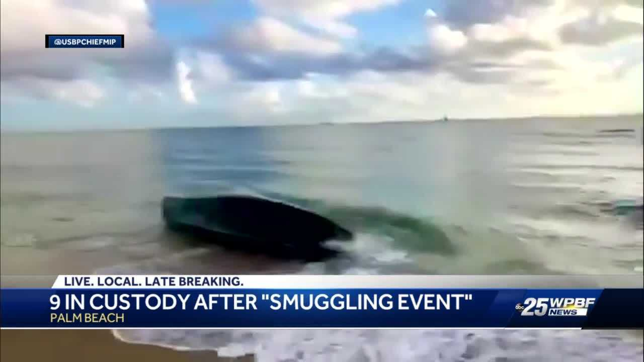 Nine foreign nationals arrested in smuggling event on Palm Beach