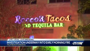 Firefighters respond to Rocco's Tacos in Palm Beach Gardens