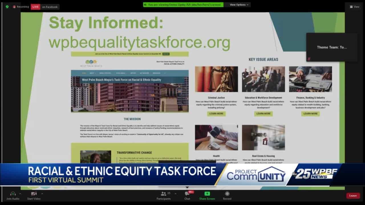 West Palm beach Mayor's Task Force hears from the community
