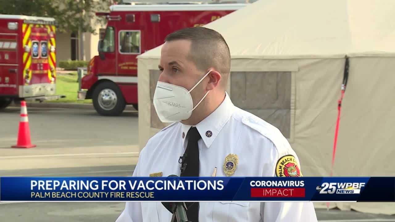 Palm Beach County Fire Rescue COVID-19 vaccines delayed