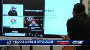 Garth Brooks virtually speaks to Atlantic High School class