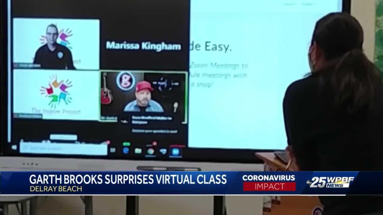 Garth Brooks virtually speaks to Atlantic High School class