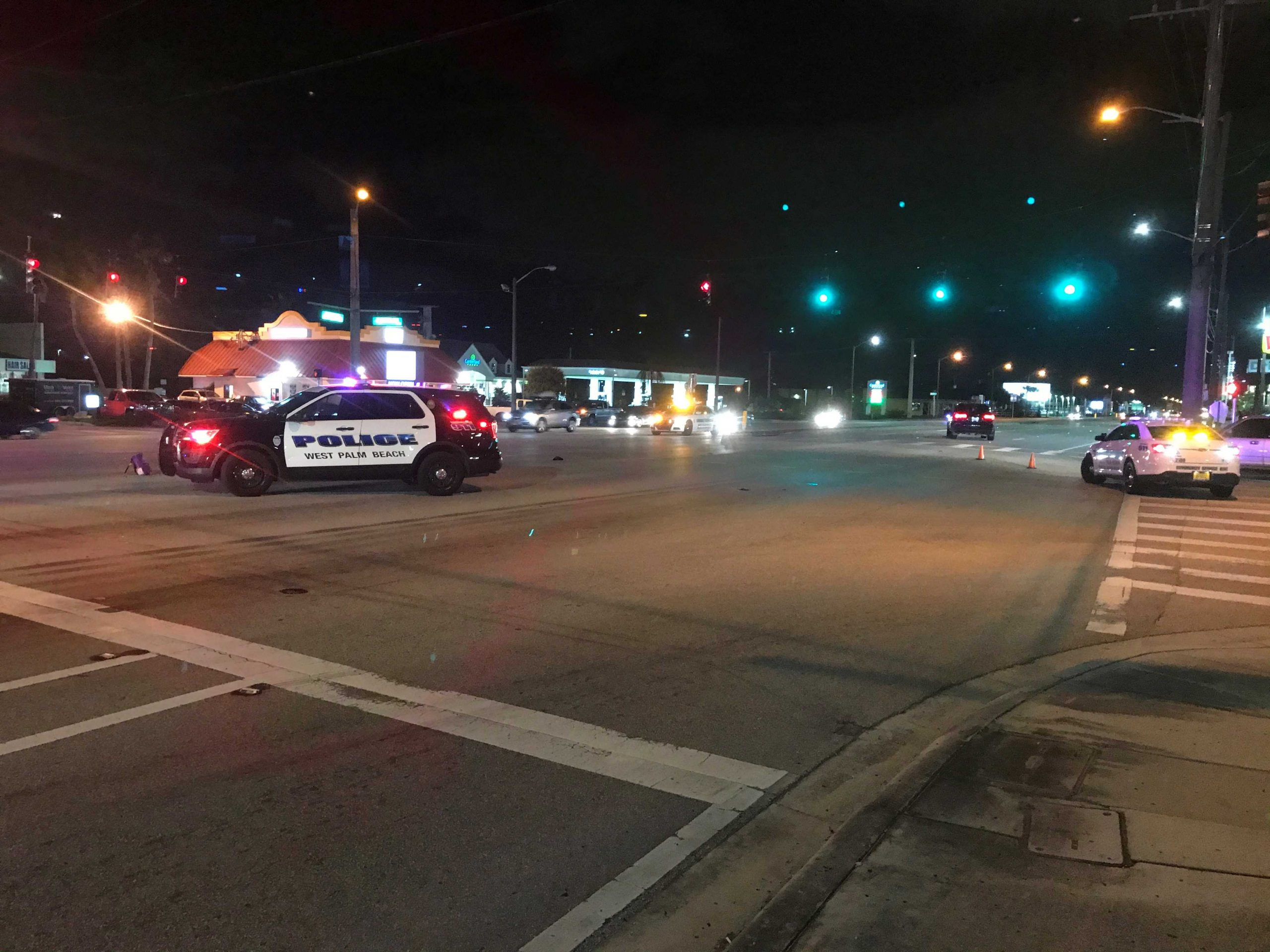 Fatal vehicle vs. pedestrian accident shuts down part of Okeechobee Blvd. in West Palm Beach