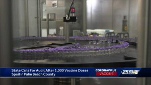 Florida Dept. of Health calls for audit of Health Care District of Palm Beach Co. for spoiled vaccine