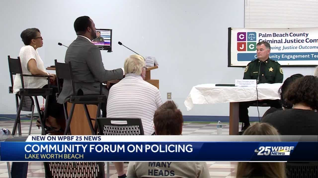 Community forum on policing held in Lake Worth Beach