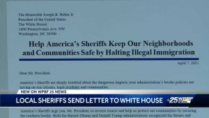 Two local sheriffs sign letter to President Biden to halt illegal immigration