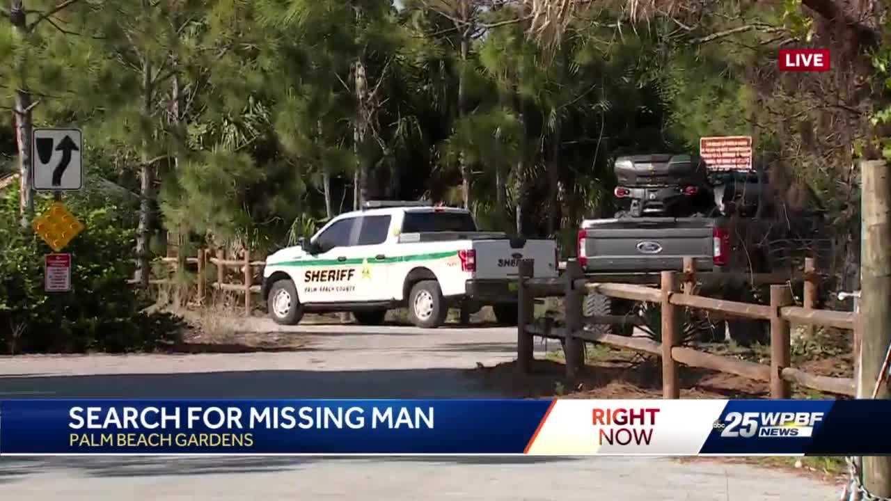 PBSO searching for missing man near Beeline Highway