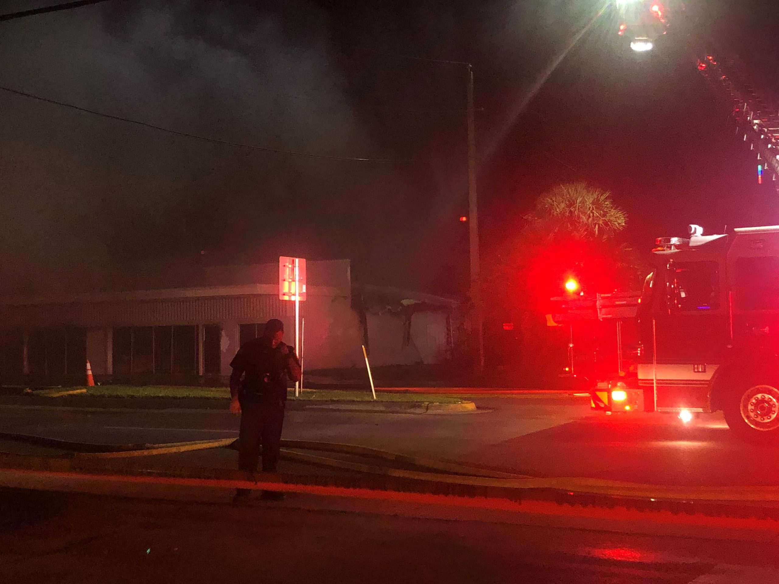 Building fire shuts down part of Broadway Avenue in Riviera Beach