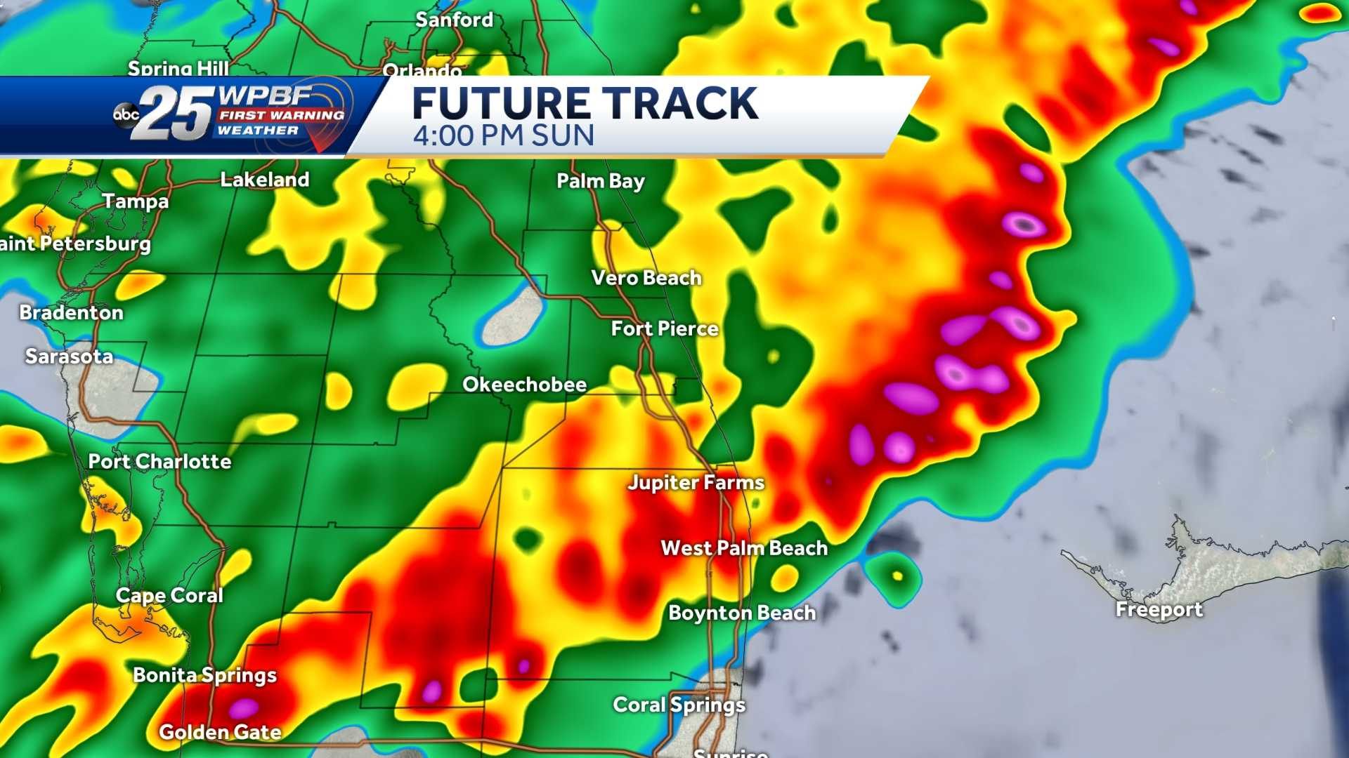 Potential for severe thunderstorms across South Florida expected early afternoon