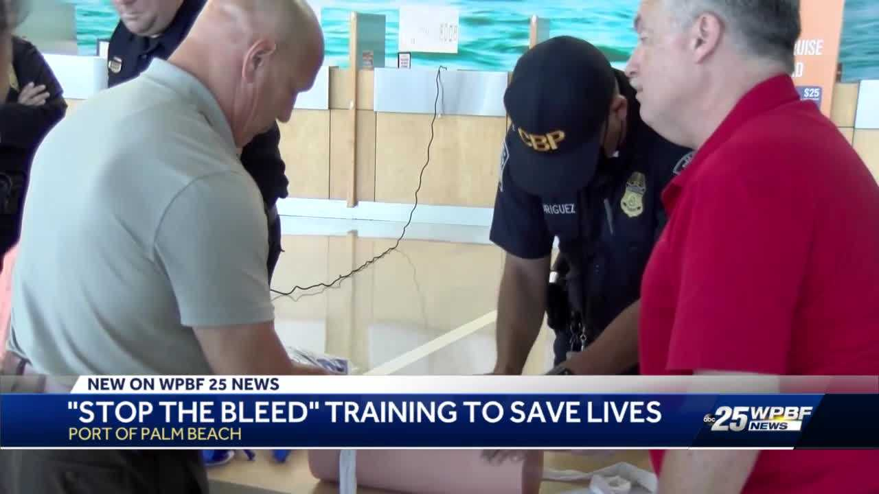 Stop the Bleed training at Port of Palm Beach