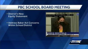 Parents protest the use of masks at Palm Beach County schools