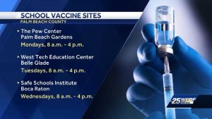 Mobile vaccine units to roll out across Palm Beach County School District locations