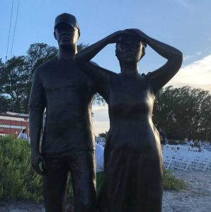 Monument unveiled honoring Austin and Perry