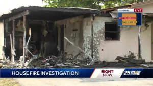 Family displaced after fire rips through West Palm Beach home
